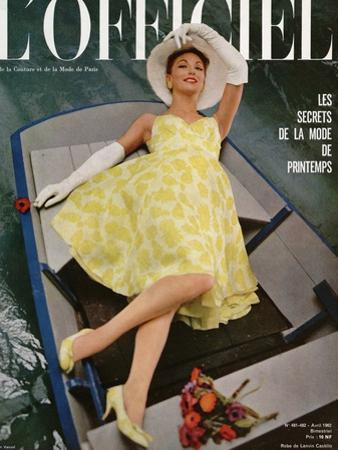 L'Officiel, April 1962 - Robe de Lanvin Castillo en Mousseline de Soie de Laurendeau et Cornet by Roland de Vassal