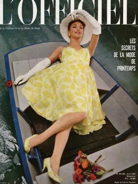 L'Officiel, April 1962 - Robe de Lanvin Castillo en Mousseline de Soie de Laurendeau et Cornet by Roland de Vassal