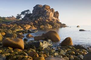 Rock Formations on the Cote De Granit Rose, France by Roland Gerth