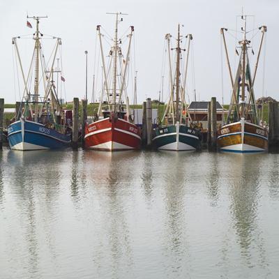 Germany, East Frisia, Northern Dike, Fisher-Boats, Harbor