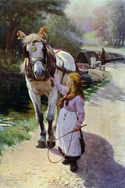 The Towing Path, 1900 (1902-190) by Roland Wheelwright