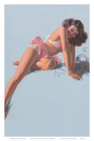 Jewel Flowers, Pin Up Girl c.1940s
