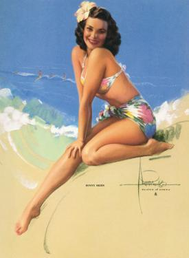 Sunny Skies, Pin-Up of Miss Hawaii 1950 Elsa Edsman, c.1953 by Rolf Armstrong