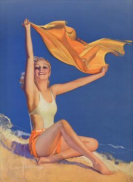 Sunshine Pin Up Girl c.1940s by Rolf Armstrong