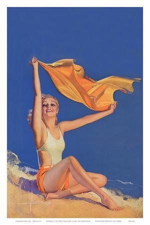Sunshine Pin Up Girl c.1940s