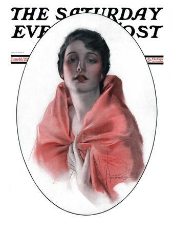 """""""Woman in Shawl,"""" Saturday Evening Post Cover, June 16, 1923"""