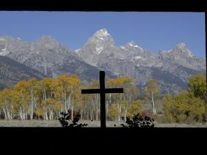 Chapel of Transfiguration, Grand Teton National Park, Wyoming, USA by Rolf Nussbaumer