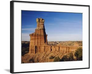 Lighthouse at Sunset, Palo Duro Canyon State Park, Canyon, Panhandle, Texas, USA by Rolf Nussbaumer