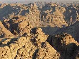 View from Mt. Sinai at Sunrise, Egypt by Rolf Nussbaumer