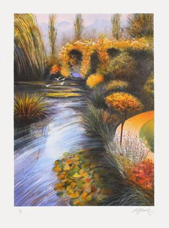 Giverny, bord de rivière by Rolf Rafflewski