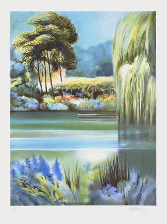 Giverny, le grand saule pleureur by Rolf Rafflewski