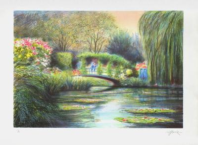 Giverny, le pont aux nymphéas by Rolf Rafflewski