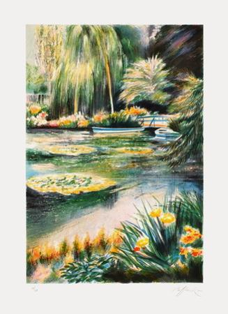 Giverny, les nymphéas sur la rivière II by Rolf Rafflewski