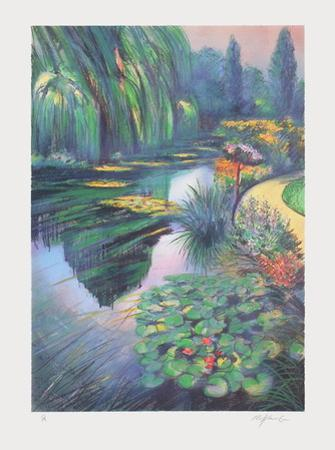 Giverny, les nymphéas sur la rivière by Rolf Rafflewski