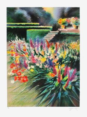 Giverny, parterre de fleurs by Rolf Rafflewski