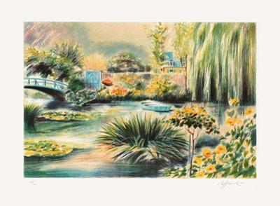 Giverny, une barque sur l'eau II by Rolf Rafflewski