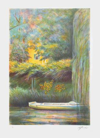 Giverny, une barque sur l'eau by Rolf Rafflewski