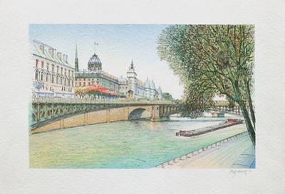 Paris, la Seine et la Conciergerie by Rolf Rafflewski
