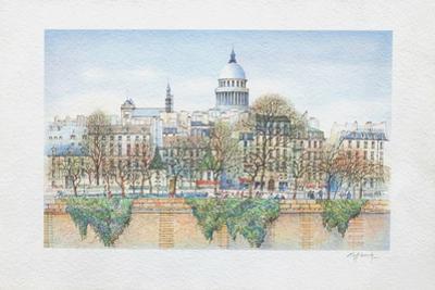 Paris, la Seine et le Panthéon by Rolf Rafflewski