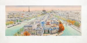 Paris, panorama vers l'Ouest II by Rolf Rafflewski