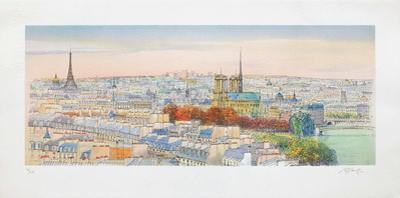 Paris, panorama vers Notre-Dame II by Rolf Rafflewski