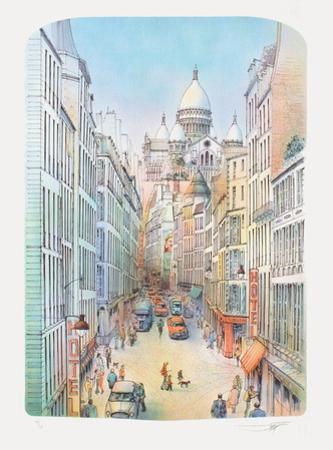 Paris, rue à Montmartre by Rolf Rafflewski