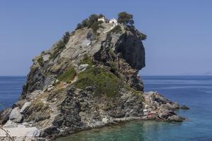 Agios Ioannis Chapel, Used in the Film Mama Mia, Skopelos, Sporades, Greek Islands, Greece, Europe by Rolf Richardson