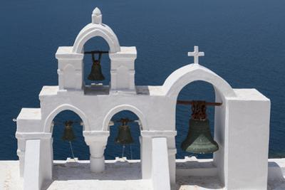 Church Bells, Oia, Santorini, Cyclades, Greek Islands, Greece by Rolf Richardson
