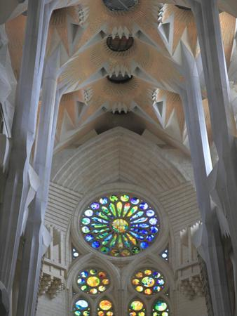 Interior of Sagrada Familia Temple, Barcelona, Catalunya, Spain, Europe by Rolf Richardson