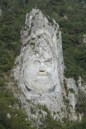 King Decabalus Rock Carving, Danube Gorge, Romania, Europe by Rolf Richardson
