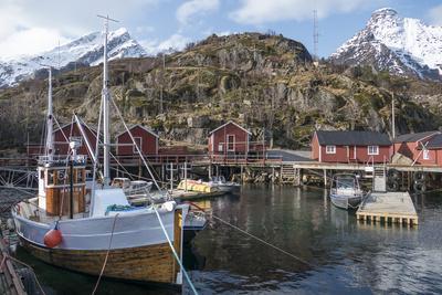 Nusfjord, Lofoten Islands, Nordland, Arctic, Norway, Scandinavia