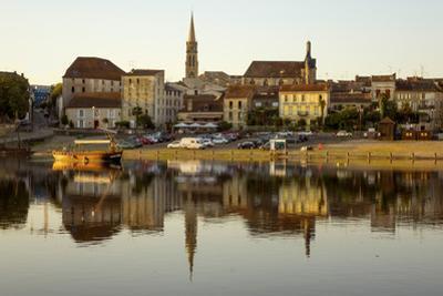 Port and River Dordogne, Bergerac, Perigord, Aquitaine, France, Europe by Rolf Richardson