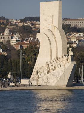 River Tagus and Monument to the Discoveries, Belem, Lisbon, Portugal, Europe by Rolf Richardson