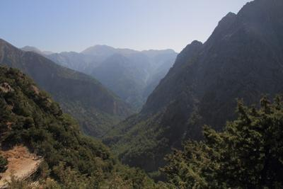 Samaria Gorge from Lookout, Crete, Greek Islands, Greece, Europe by Rolf Richardson