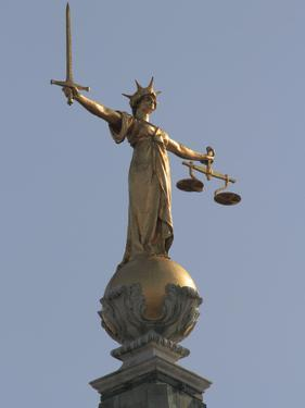 Scales of Justice, Central Criminal Court, Old Bailey, London, England, United Kingdom, Europe by Rolf Richardson