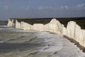 Seven Sisters from Birling Gap, South Downs National Park, East Sussex, England, United Kingdom by Rolf Richardson
