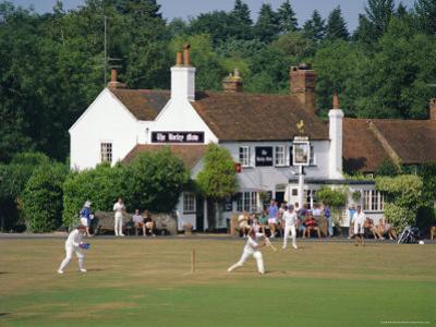 Village Green Cricket, Tilford, Surrey, England, UK by Rolf Richardson