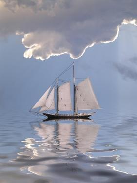 Sailboat On Water by rolffimages