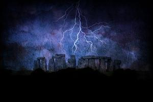 Stone Henge Lightning by rolffimages