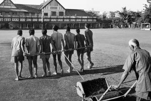 Rolling the Lawn at the Gymkhana Club in Bombay, 1980