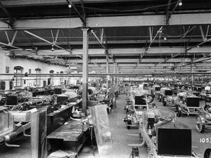 Rolls-Royce Silver Ghosts under Construction, Derby, C1912