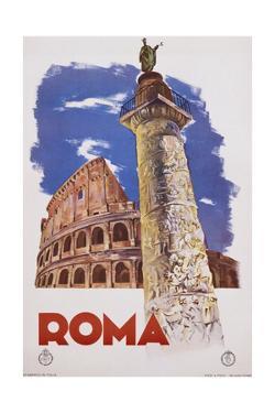 Roma Travel Poster