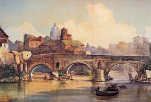Roma - Vintage Style Italian Poster