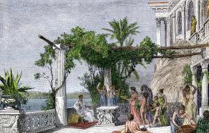Roman Emperor Tiberius Enjoying His Villa on Capri