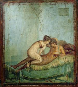 Erotic Scene, House of the Centurion by Roman