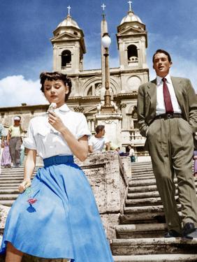 ROMAN HOLIDAY, from left: Audrey Hepburn, Gregory Peck, 1953