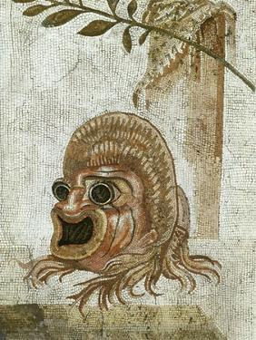 Roman Mosaic, Tragic Mask