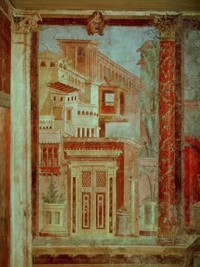 Panel from Cubiculum from the Bedroom of the Villa of P Fannius at Boscoreale, Pompeii, C.50-40 BC by Roman