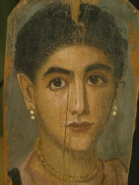 Female Mummy Portrait, from Thebes, 2nd Century by Roman Period Egyptian