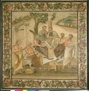 Plato Conversing with His Pupils, from the House of T. Siminius. Pompeii by Roman
